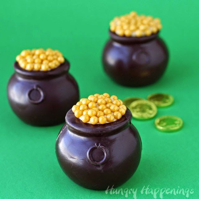 Hungry Happenings: Chocolate Pots of Gold filled with Dulce de Leche Mousse