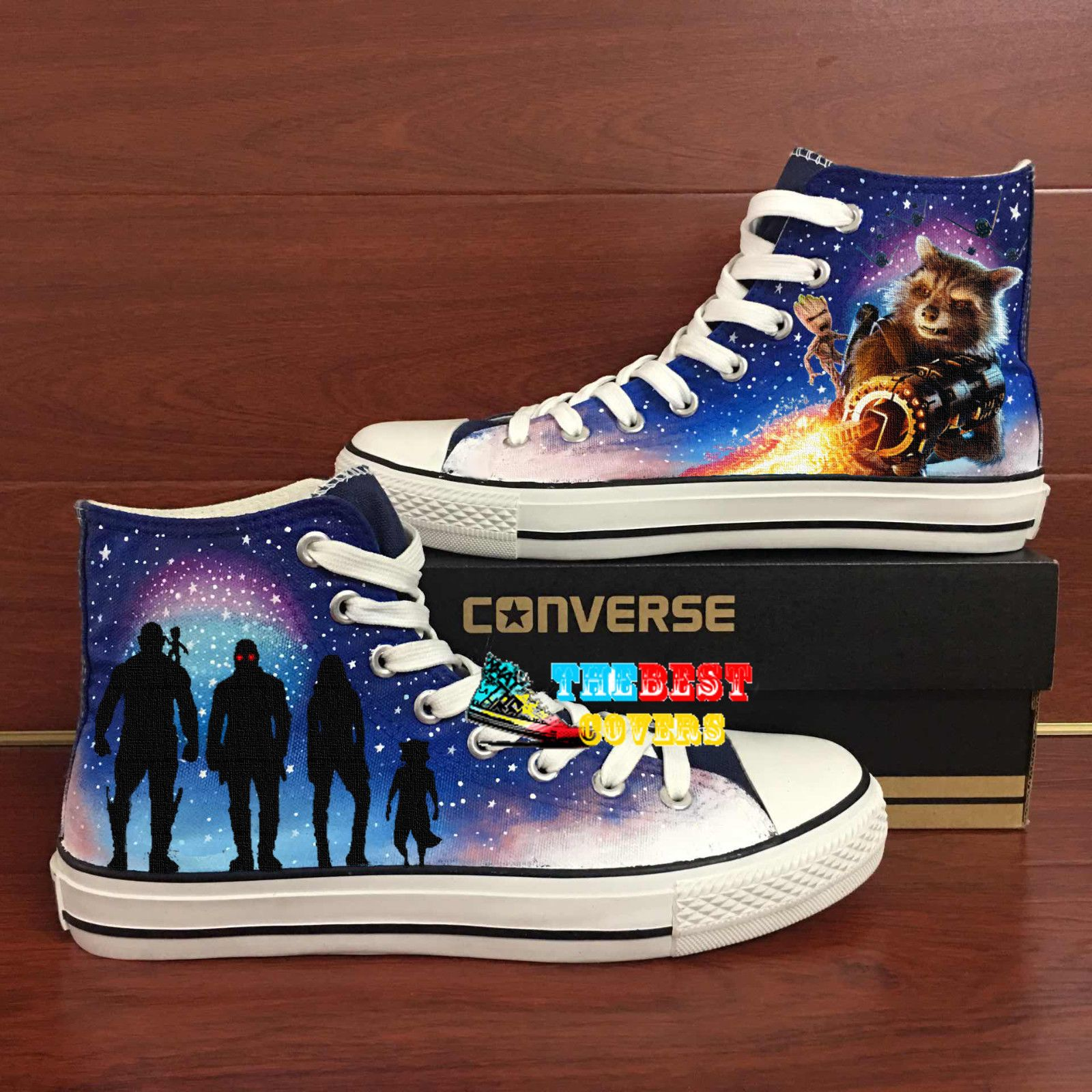 068060c6d2db CONVERSE All Star GUARDIANS OF THE GALAXY marvel movie hand painted shoes