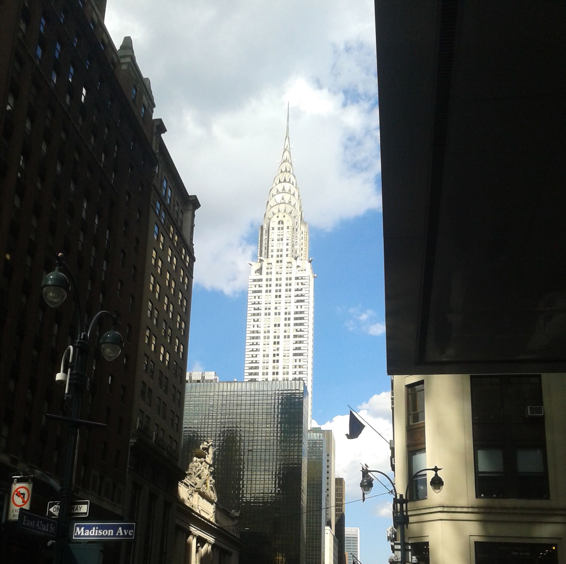 A view of the Chrysler Building from Madison Avenue.
