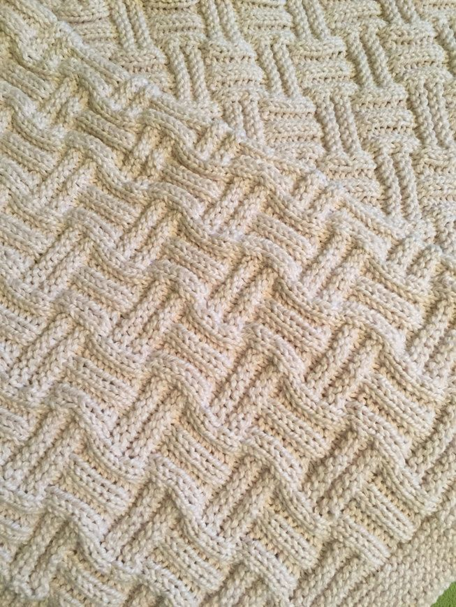 Double Basketweave Blanket knitting project by Kathy S | Knitting ...