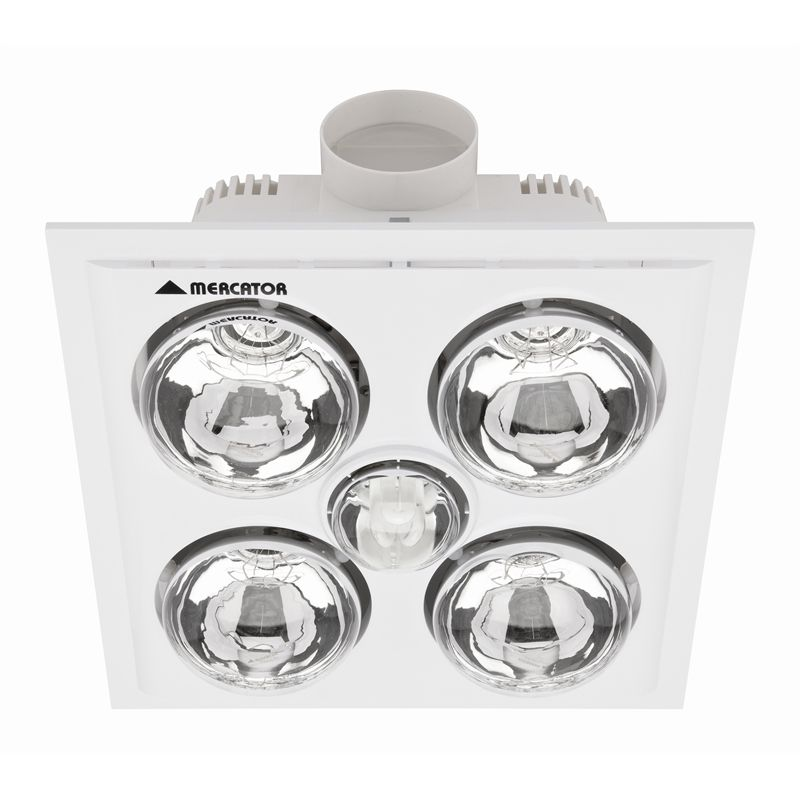 White Bathroom Heater mercator lava quattro white bathroom heater and exhaust with light