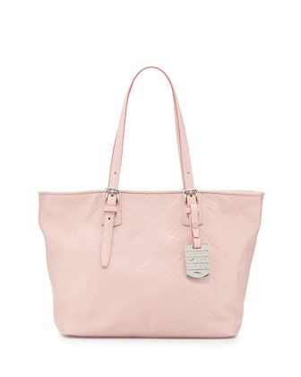 0089b2d48e4 LM Small Cuir Leather Shoulder Tote Bag, Petal Pink by Longchamp at Neiman  Marcus.