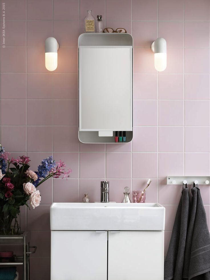 Ikea Gunnern Mirror Cabinet Bathroom Pink Ikea 39 S Finest Pinterest Bathroom Pink Mirror