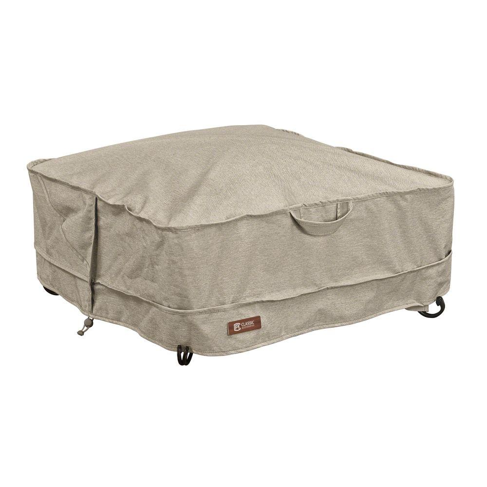 Classic Accessories Montlake Square 36 In Fire Pit Cover 55 665 016701 Rt Square Fire Pit Square Fire Pit Cover Rustic Fire Pits
