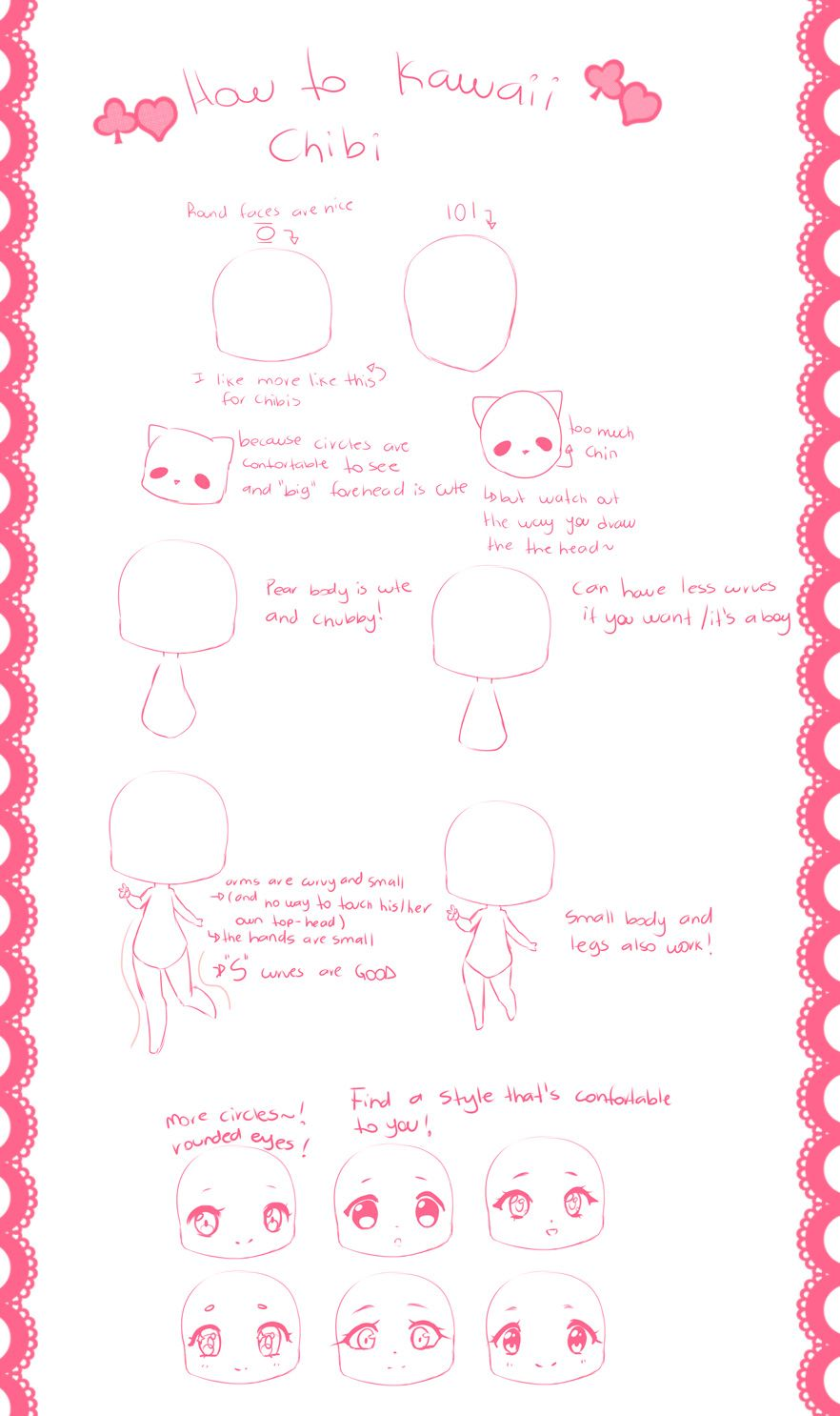 How To Kawaii Chibi By Hyanna Natsu Kawaii Chibi Chibi Manga Drawing Tutorials