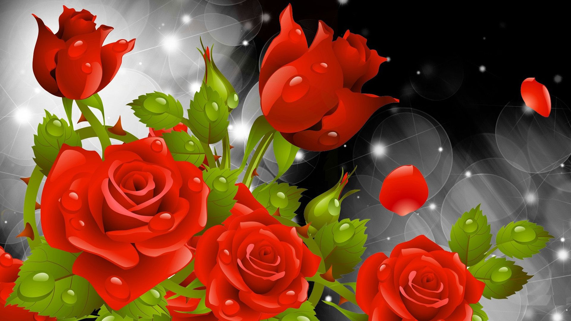 Red Rose Wallpapers Red Flowers Hd Pictures One Hd Wallpaper 1280