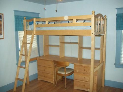 bed and desk combo teens  Bunk Bed with Student Desk bunk bed