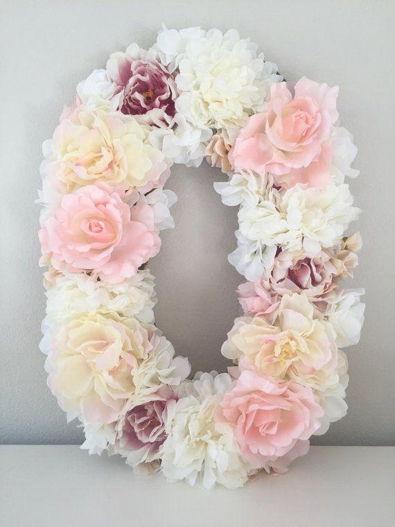 Children S Party Box Wall Art For Girl S Bedroom: Wedding Decor, Flower Monogram, Floral Letter, Flower