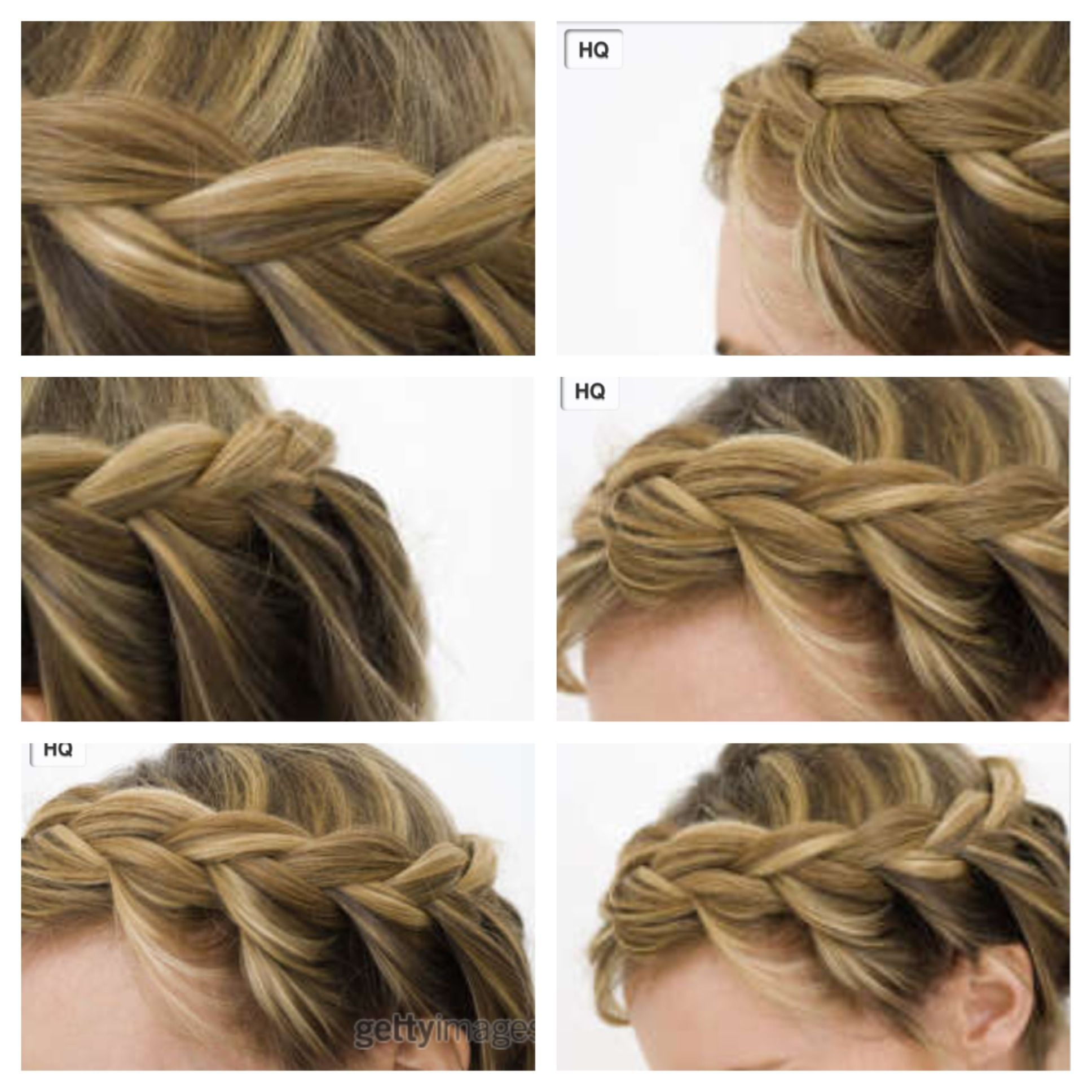 Different angles of a really cute braided hairstyle | Cute ...