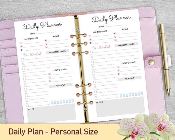 taille personnelle planificateur quotidien