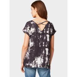 Photo of Tom Tailor Denim women's shirt blouse with batik pattern, black, patterned, size L Tom TailorTom Tailor