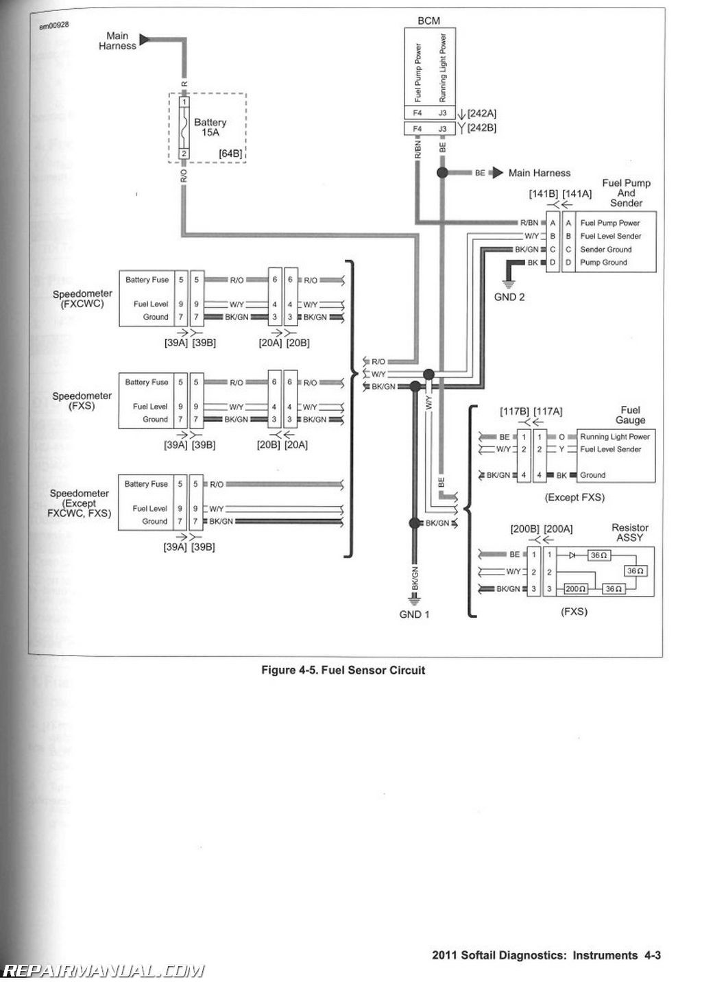 WRG-6786] Harley Fuel Gauge Wiring Diagram on