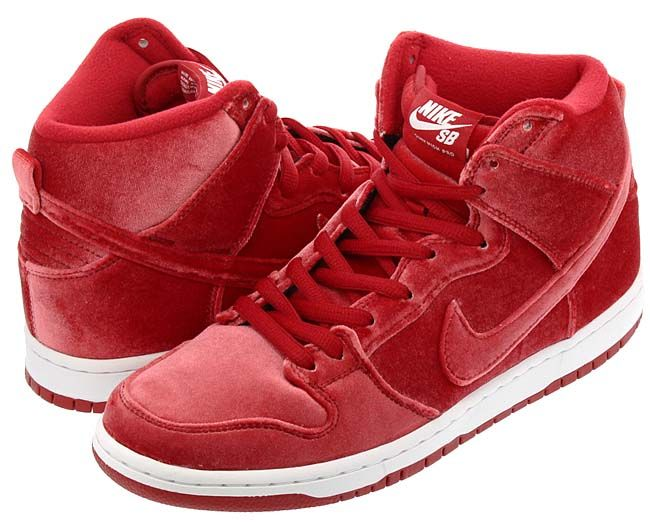 NIKE SB DUNK HIGH PREMIUM Red Velvet [GYM RED / GYM RED-WHITE]