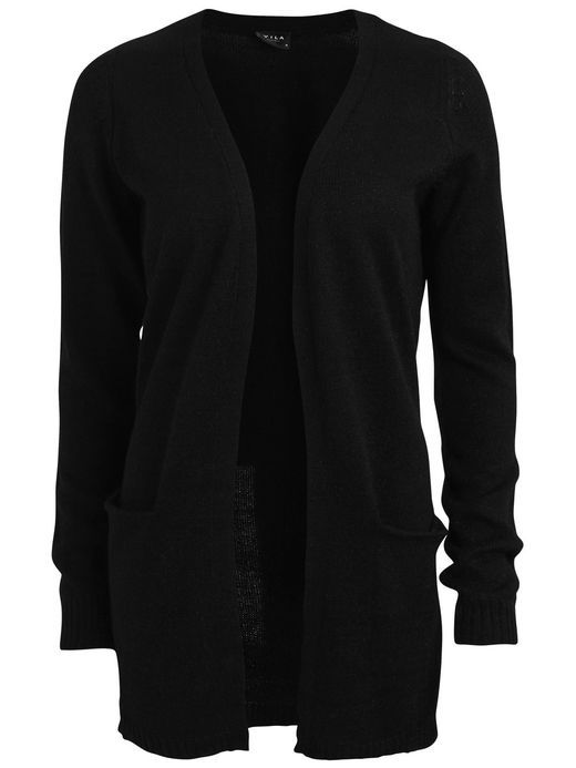 VIRIVA – STRIKKET CARDIGAN, Black