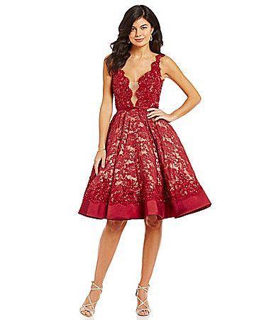 Red dress dillards 698   Wedding dress   Pinterest   Dillards