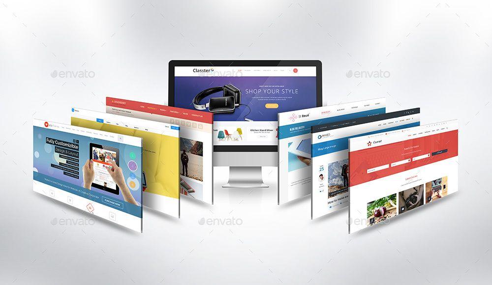 Desktop Website Mock Up V1 Desktop Website Mockup Mockup