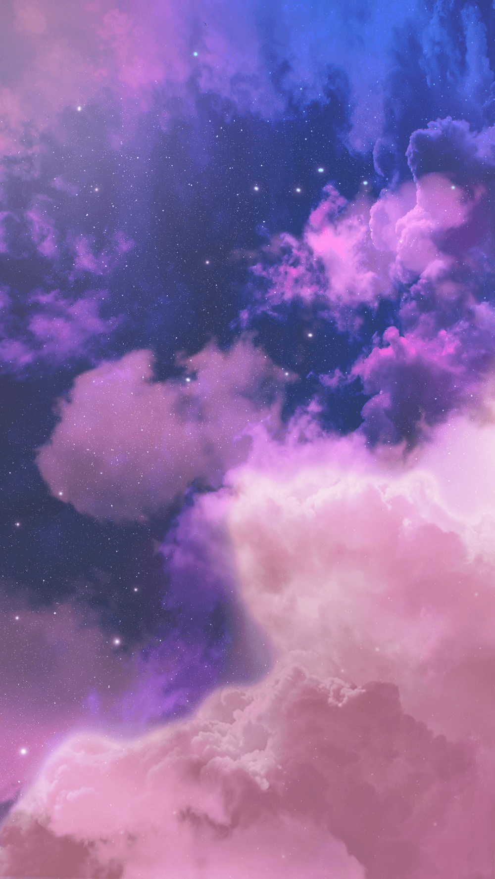 Aesthetic Pink And Blue Clouds Wallpaper