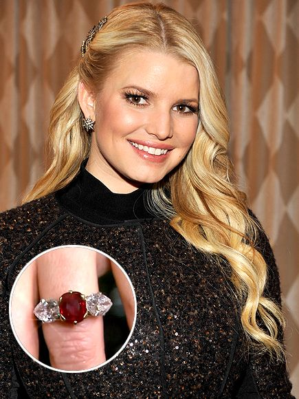Jessica Simpson whose fianc Eric Johnson hid her five carat ruby