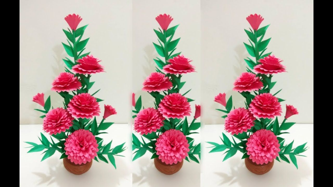 Diy Home Decoration Paper Flowers Easy Paper Flower Handmade