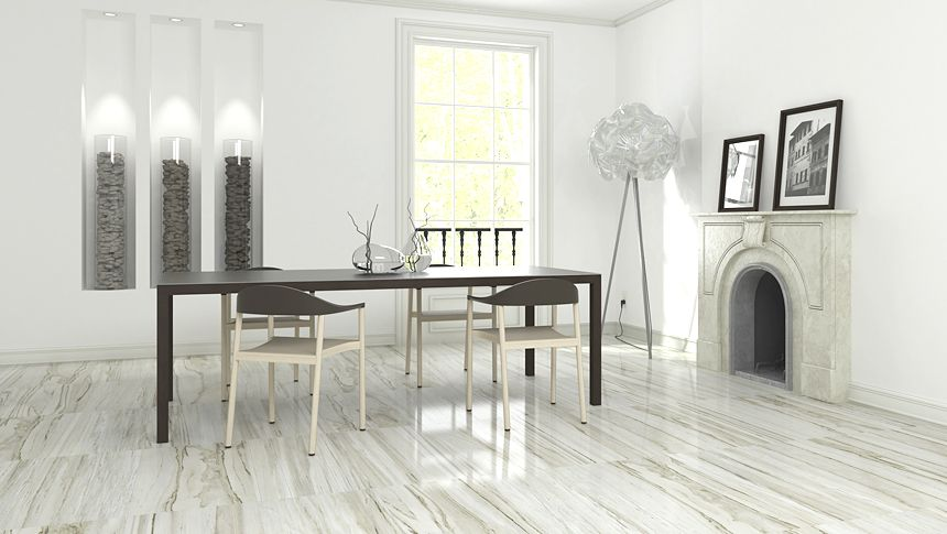This Dining Room Has A Spa Like Feel From The Luxurious Classic New Dining Room Tile Review