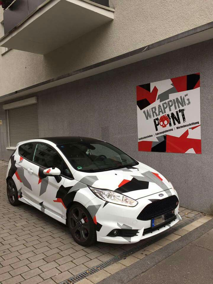 Camouflage Ford Fiesta Carros Adesivados New Fiesta Carros