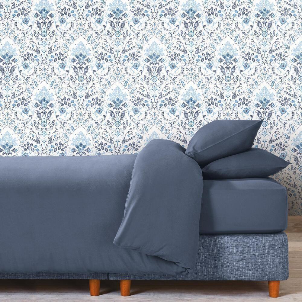 Persian Damask Peel And Stick Wallpaper Peel And Stick Wallpaper Roommate Decor Room Visualizer