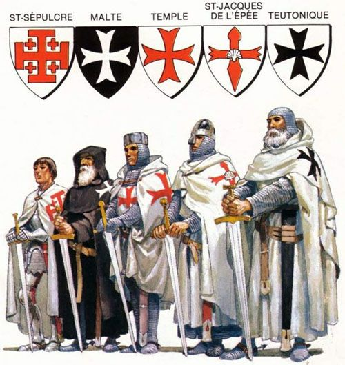 The main Catholic military orders of monastic-knights