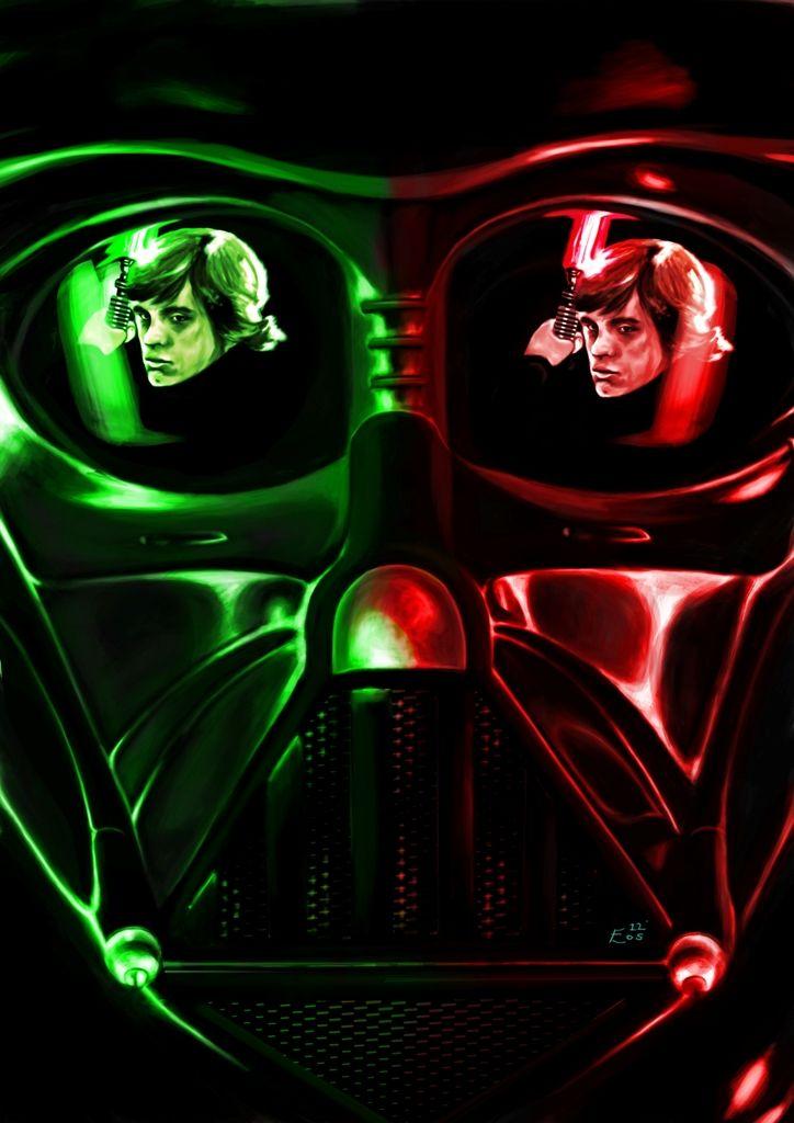Darth Vader Vs Luke Skywalker Star Wars Erol Osman Star Wars Background Star Wars Villains Star Wars Nerd