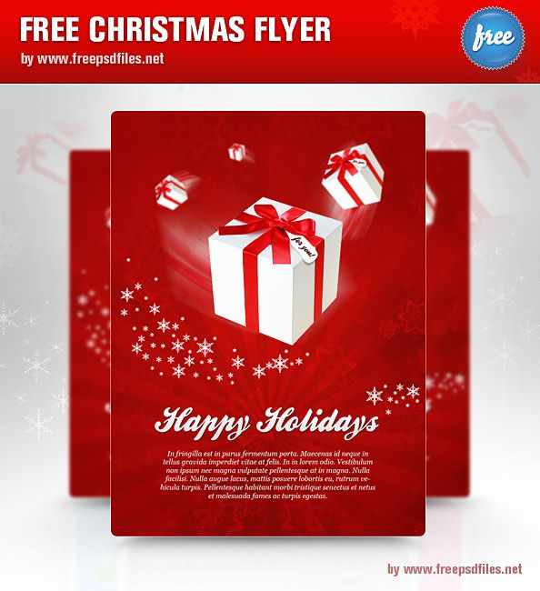 Christmas_Flyer_PSD_Template p s d 。 Pinterest Christmas - free word christmas templates