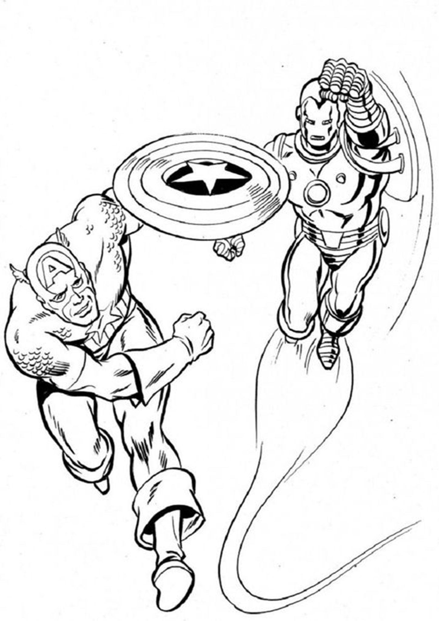 Free & Easy To Print Captain America Coloring Pages in ...
