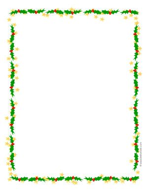 holiday borders for letters