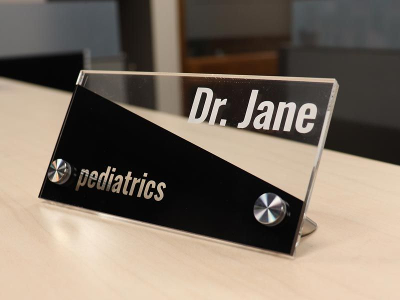Clear Acrylic Desk Signs Name Plates Desk Sign Name Plate Custom Desk Name Plates