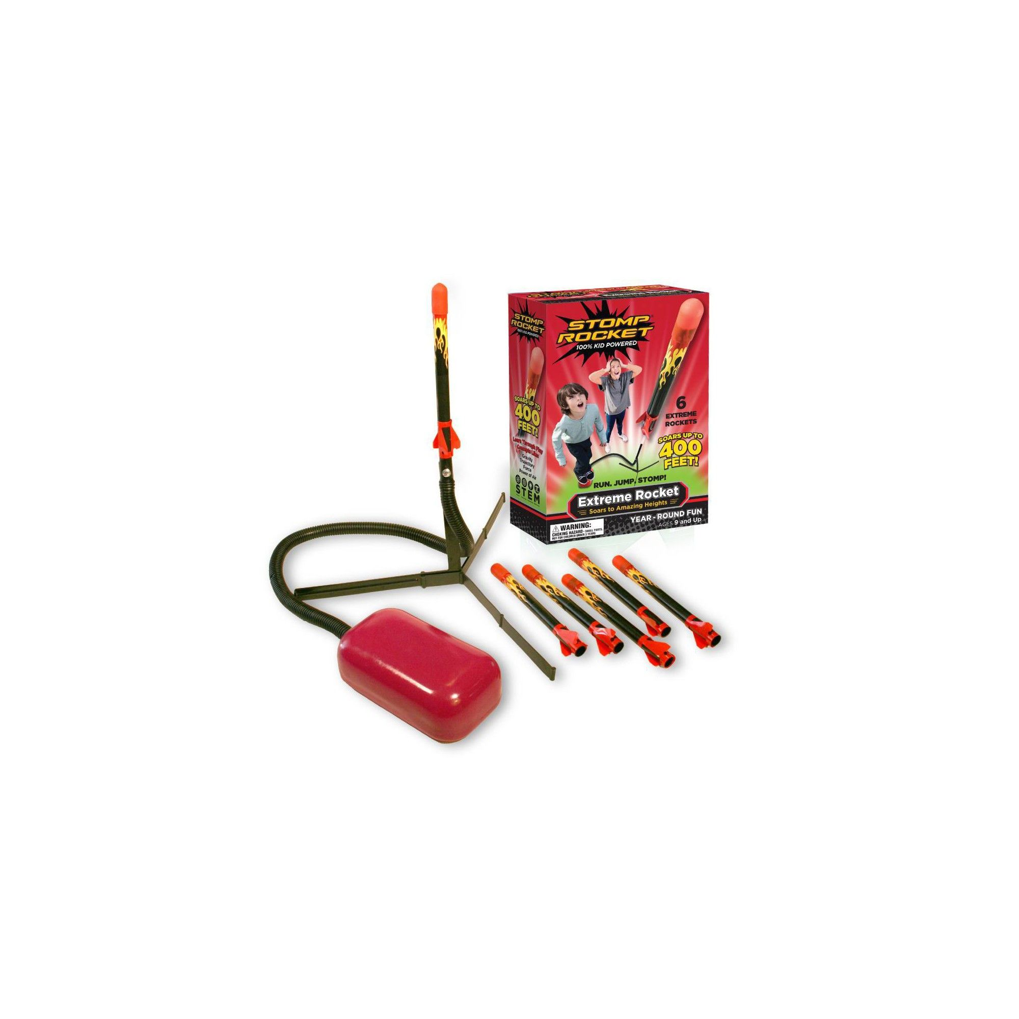 Stomp Rocket Extreme Super High Flying Rockets with Launch