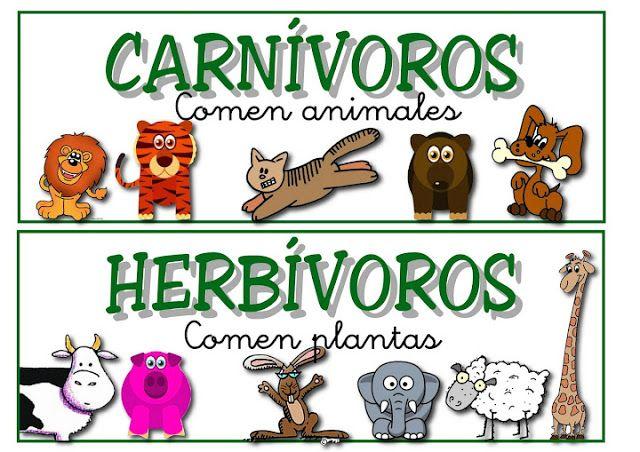 Animales Herbívoros En Dibujos Animados Imagui Juego Animales