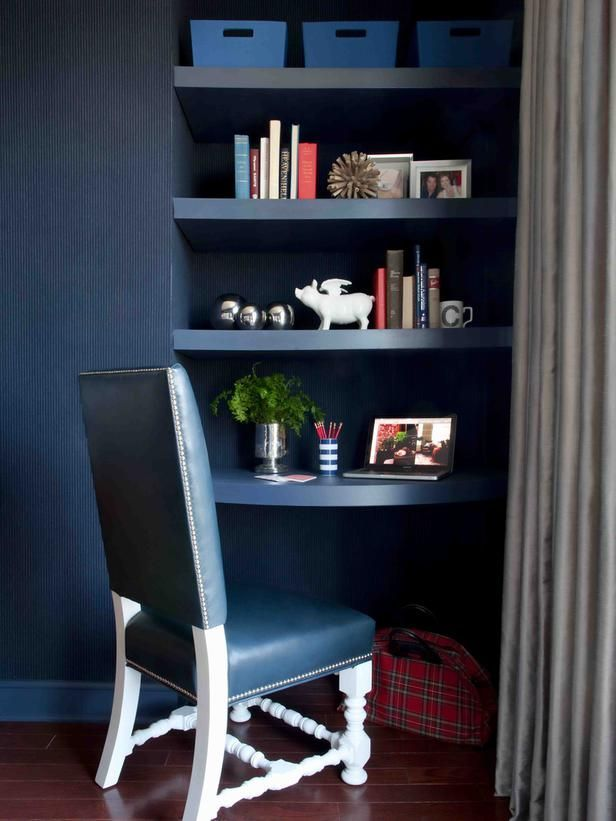 indigo home office. 40 Awesome Indigo Home Décor Ideas : With Dark Wooden Office H
