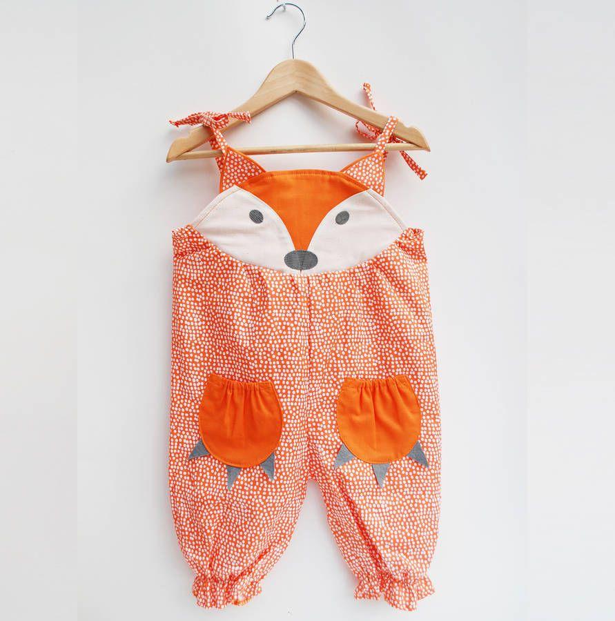 Fox Baby Girl Summer Romper | Nähen