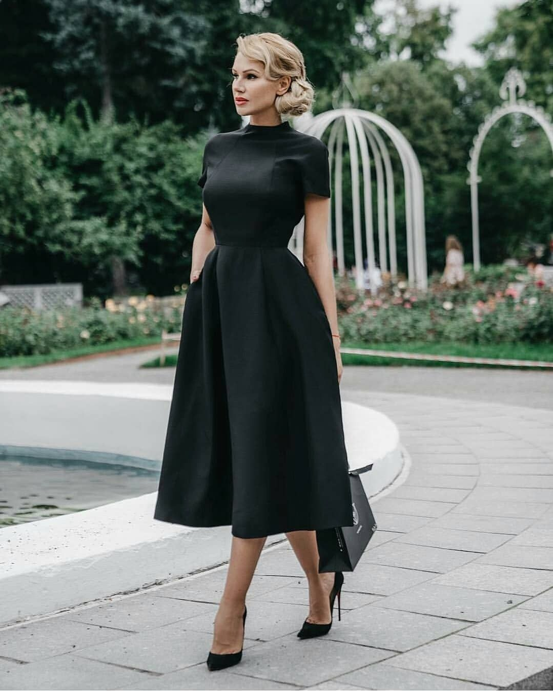 8dfa0b39e85a Elegant black dress. You can do so much with this! Layer it