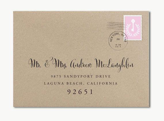 Custom Wedding Envelope-Custom Calligraphy Envelope-Envelope