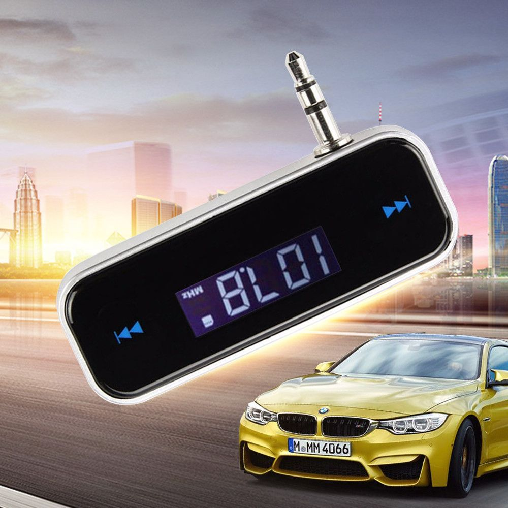 Fm Wireless Transmitter 3 5mm In Car Music Audio Car Mp3 Audio