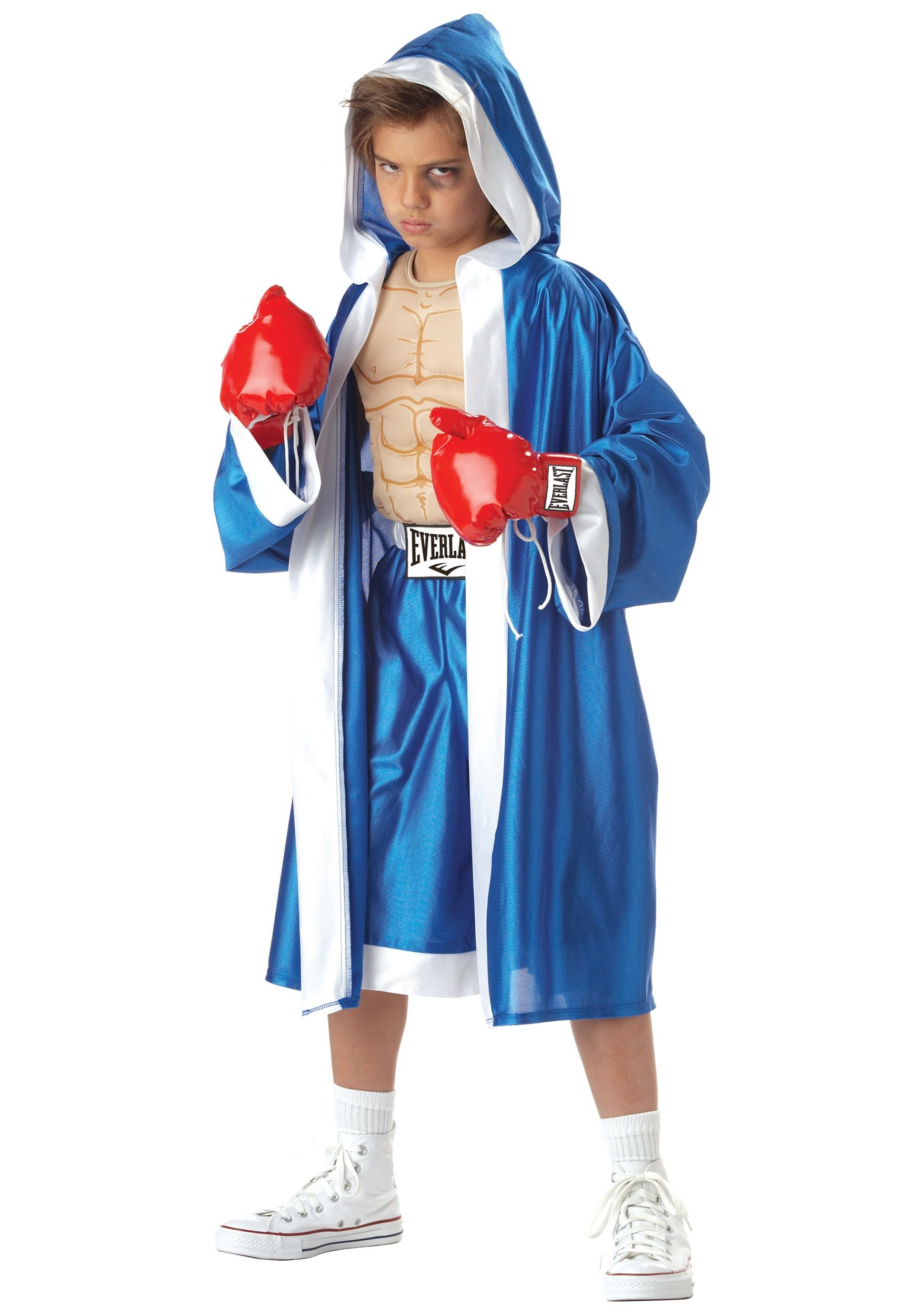 Mens Boxer Costume Down for the Count Fancy Dress Sports Outfit New