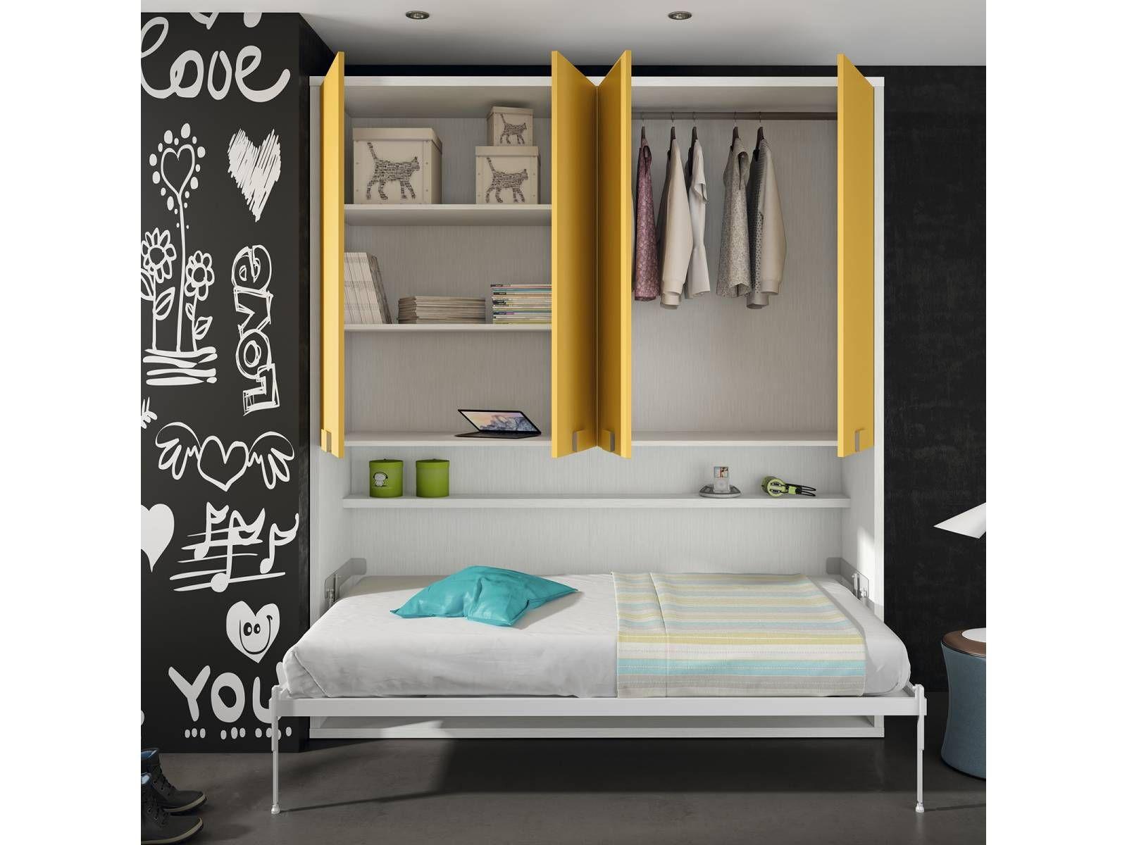 Dormitorio juvenil con cama abatible