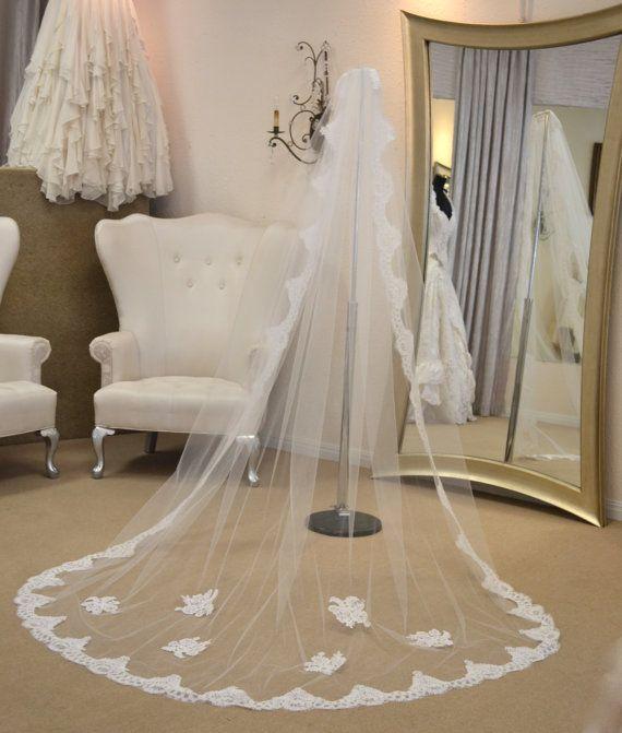 Pretty, pretty, pretty... :)   Cathedral Mantilla Veil, Lace Cathedral Veil, Cathedral Length Wedding Veils, Wedding Veils Mantilla, Wedding Veils