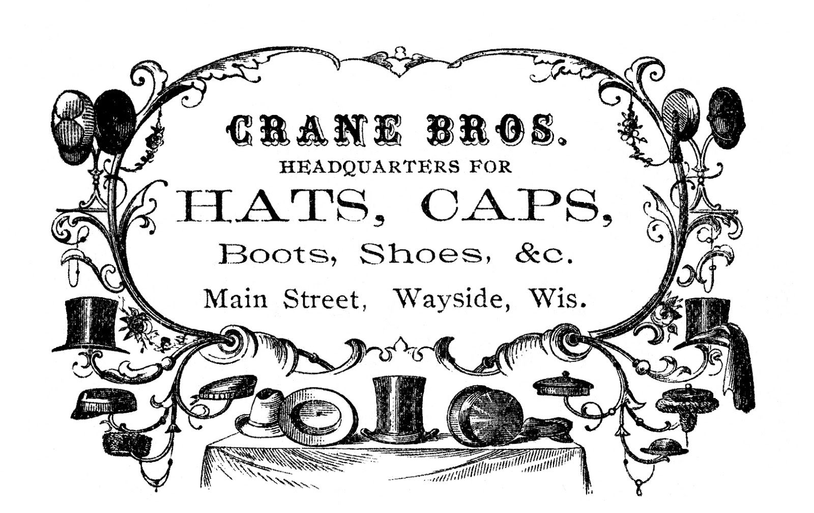 Vintage Advertising Clip Art - Victorian Hats - The ...