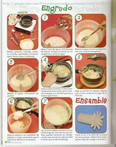 Receta para hacer engrudo manualidades pinterest - Como se hace manualidades ...