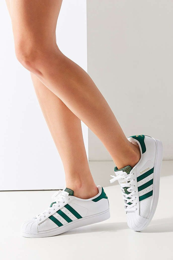 new concept 42fd3 42919 adidas Green Superstar Sneaker - Urban Outfitters