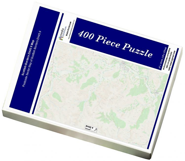 Jigsaw Puzzle Scottish Borders EH45 9 Map 400 Piece Jigsaw Puzzle made to order in the UK
