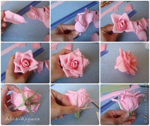 Поделки из гофрированной бумаги: цветы своими руками