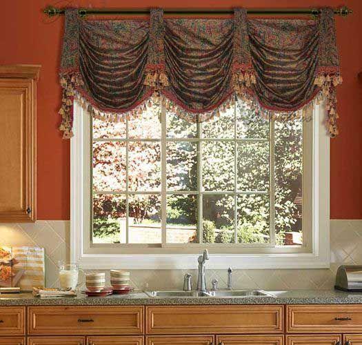 Kitchen Cabinet Valance Ideas: Kitchen Sink Window, Blinds For Windows