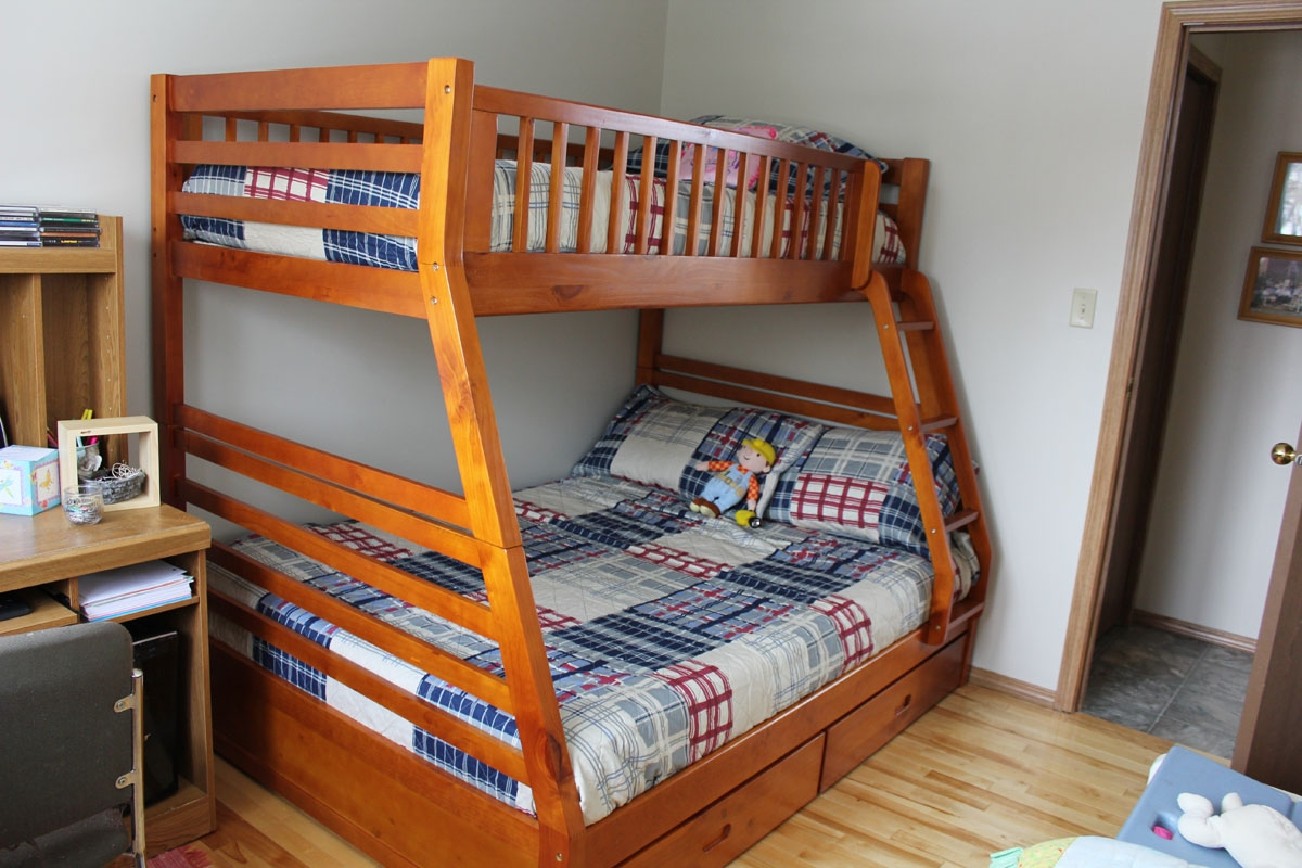 Plans To Build Full Twin Bunk Bed Pdf I Want A Diy Like This For The Kids Then Could Separate Beds When We