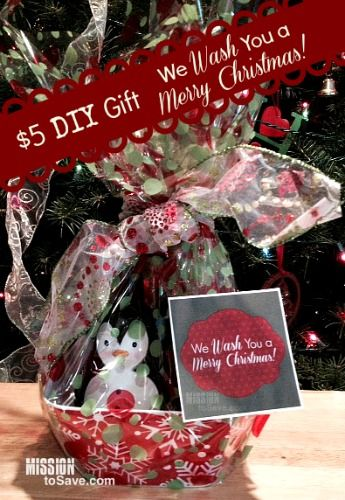 $5 DIY Christmas Gifts  We Wash You a Merry Christmas Frugal